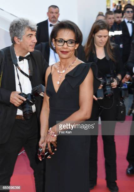 TV presenter Audrey Pulvar attends the 'Okja' Screening during the 70th annual Cannes Film Festival at Palais des Festivals on May 19 2017 in Cannes...