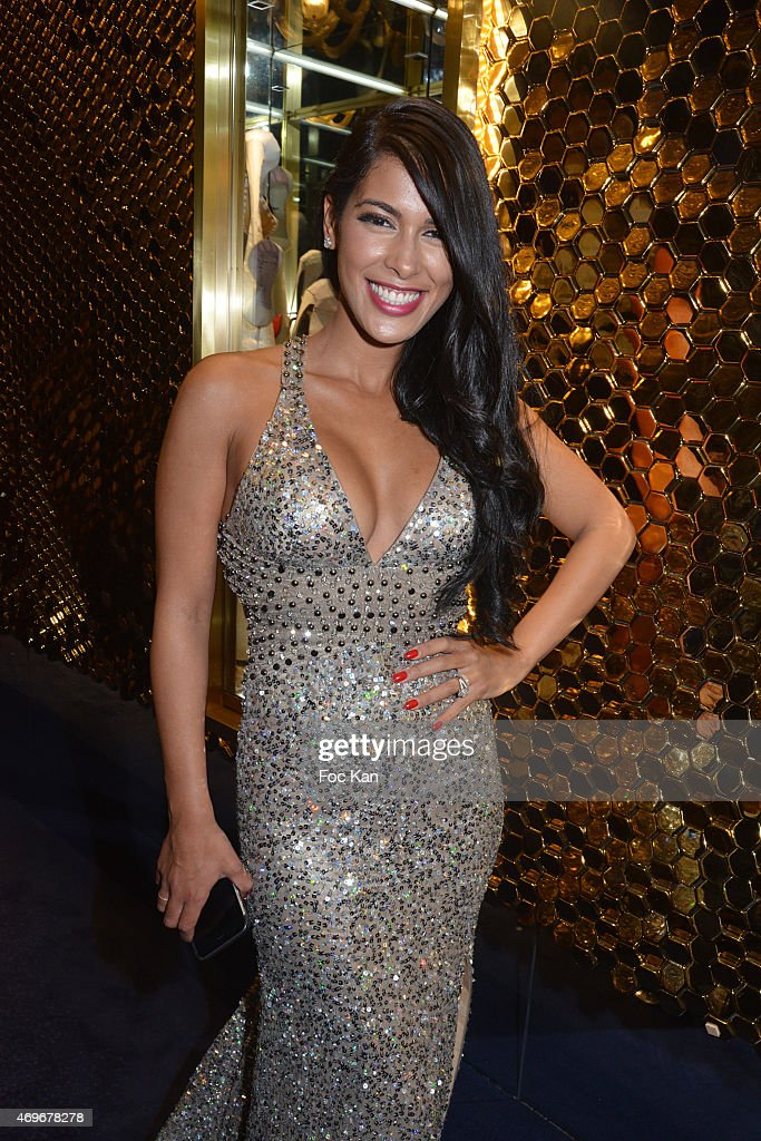 TV presenter <a gi-track='captionPersonalityLinkClicked' href=/galleries/search?phrase=Ayem+Nour&family=editorial&specificpeople=8920076 ng-click='$event.stopPropagation()'>Ayem Nour</a> attends the 'Globes De Cristal' 2015 : Award Ceremony At The Lido on April 13, 2015 in Paris, France.