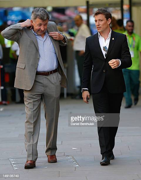 TV presenter Ben Shephard attends the Opening Ceremony of the 124th IOC Session prior to the start of the London 2012 Olympic Games at The Royal...