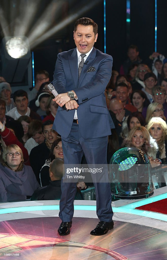 Presenter Brian Dowling at the Celebrity Big Brother House at Elstree Studios on January 3, 2013 in Borehamwood, England.
