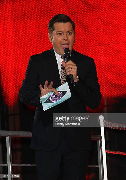 Presenter Brian Dowling is seen at Celebrity Big Brother at Elstree Studios on January 25 2012 in Borehamwood England