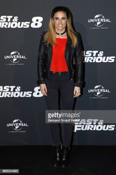 Presenter Capucine Anav attends 'Fast Fourious 8' Paris Premiere at Le Grand Rex on April 5 2017 in Paris France
