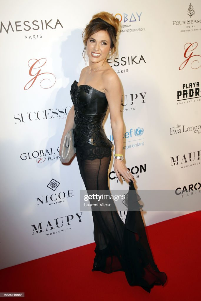 TV Presenter Capucine Anav attends Global Gift Gala 2017 at Hotel George V on May 16, 2017 in Paris, France.