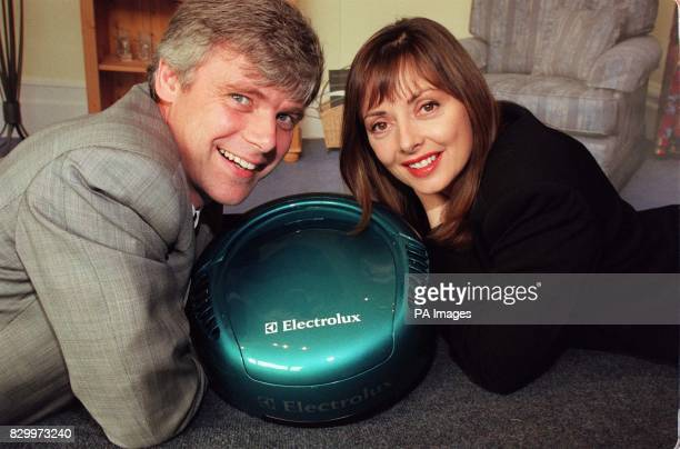 TV presenter Carol Vorderman and Pers Ljunggren the project leader of the Electrolux Robot vacuum cleaner unveil its prototype in London today The...