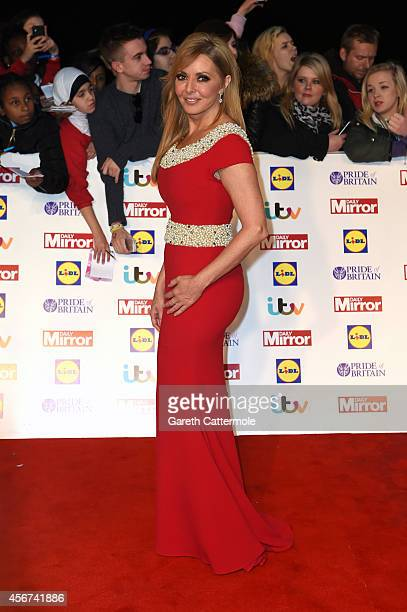 Presenter Carol Vorderman attends the Pride of Britain awards at The Grosvenor House Hotel on October 6 2014 in London England