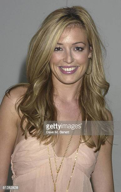 TV presenter Cat Deeley and singer Louise Rednapp attend the Asia de Cuba Light Bar 5th birthday party at St Martins Lane Hotel on September 9 2004...