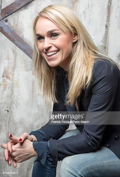 TV presenter Cecile de Menibus is photographed for Paris Match on March 6 2015 in Paris France