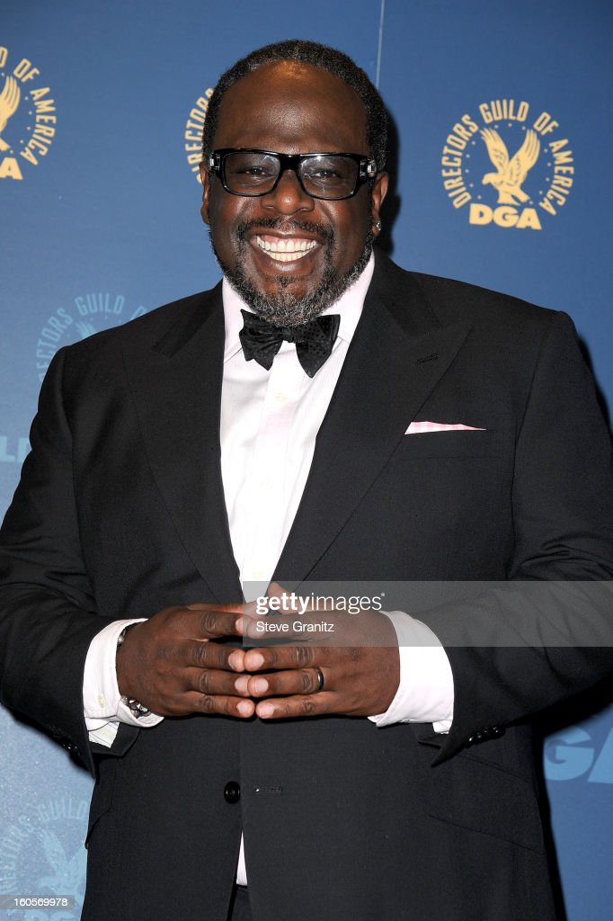 Presenter Cedric the Entertainer poses in the press room at the 65th Annual Directors Guild Of America Awards at The Ray Dolby Ballroom at Hollywood & Highland Center on February 2, 2013 in Hollywood, California.