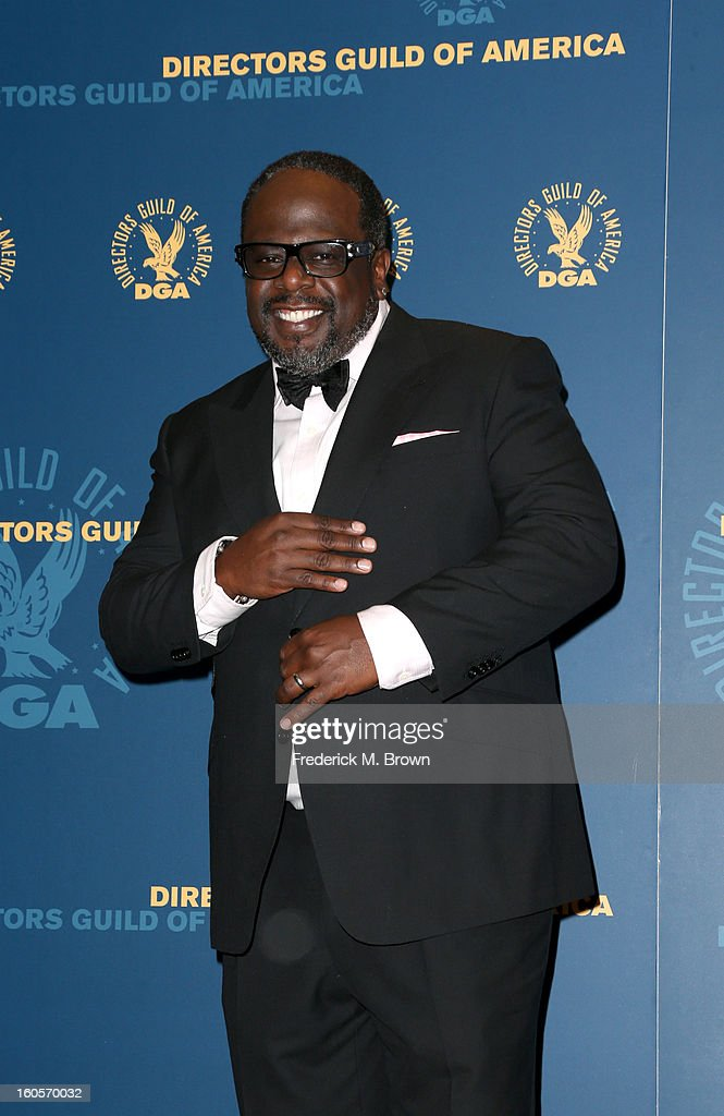 Presenter Cedric the Entertainer poses in the press room during the 65th Annual Directors Guild Of America Awards at Ray Dolby Ballroom at Hollywood & Highland on February 2, 2013 in Los Angeles, California.