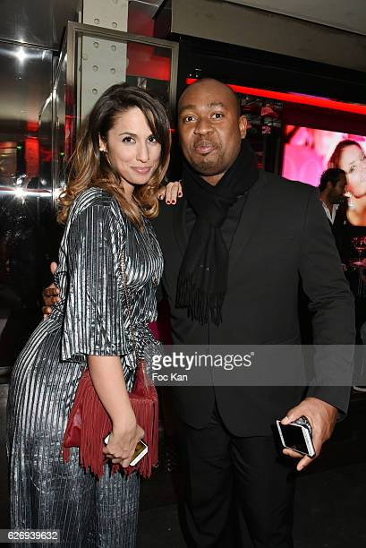 TV presenter Charlotte Namura and VIP Room Physionomist Paul Dacoury attend Bruno Mars Official After Show at VIP Room Theater on November 30 2016 in...