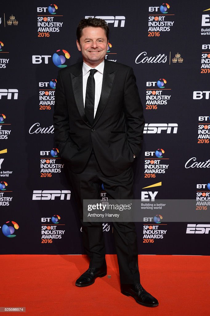 Presenter Chris Hollins poses on the red carpet at the BT Sport Industry Awards 2016 at Battersea Evolution on April 28, 2016 in London, England. The BT Sport Industry Awards is the most prestigious commercial sports awards ceremony in Europe, where over 1750 of the industry's key decision-makers mix with high profile sporting celebrities for the most important networking occasion in the sport business calendar.