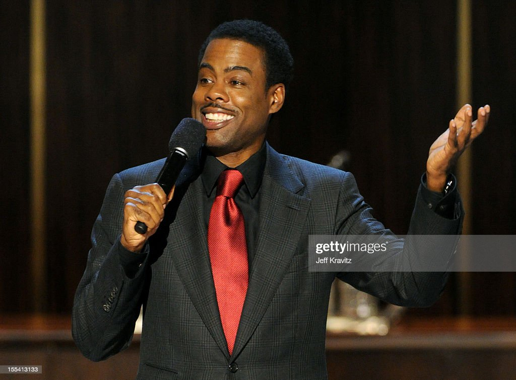 Presenter Chris Rock speaks onstage at Spike TV's 'Eddie Murphy: One Night Only' at the Saban Theatre on November 3, 2012 in Beverly Hills, California.