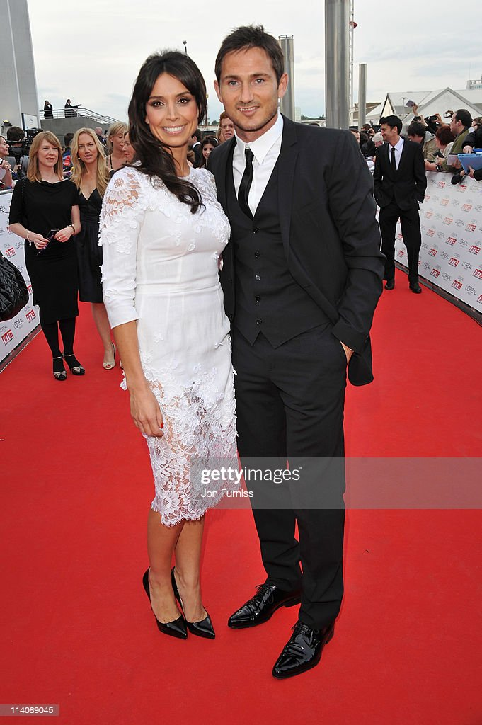 TV presenter Christine Bleakley and Frank Lampard arrive for the L'Oreal National Movie Awards 2011 at Wembley Arena on May 11 2011 in London England