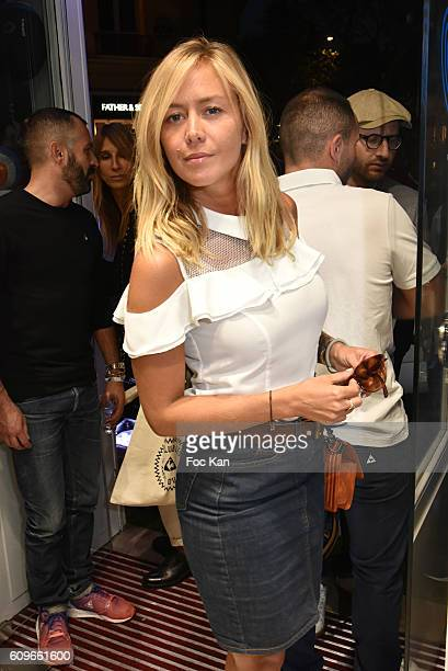 TV presenter chronicler Enora Malagre from Touche Pas A Mon Poste attends the Coq SportifÊ Boutique Opening Party on September 21 2016 in Paris France