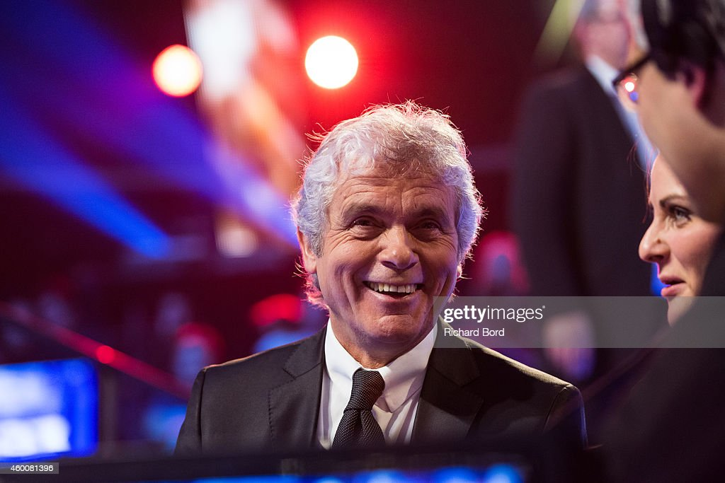 Presenter Claude Serillon attends the 'France Television Telethon 2014' TV show on December 6, 2014 in Paris, France.
