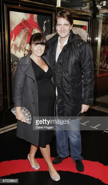 TV presenter Claudia Winkleman and her husband Kris Thykier of Freud Communications arrive at the UK Premiere of 'V For Vendetta' at the Empire...