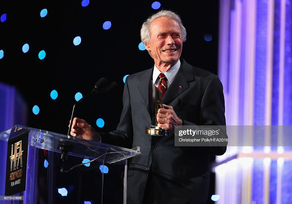 Presenter Clint Eastwood speaks onstage at the 20th Annual Hollywood Film Awards at The Beverly Hilton Hotel on November 6, 2016 in Beverly Hills, California.
