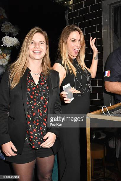 TV presenter Clio Pajczer and girl friend Tatiana Hubert attend Charlotte Namura and Clio Pajczer DJ Party at La Gioia in VIP Room Theater on...