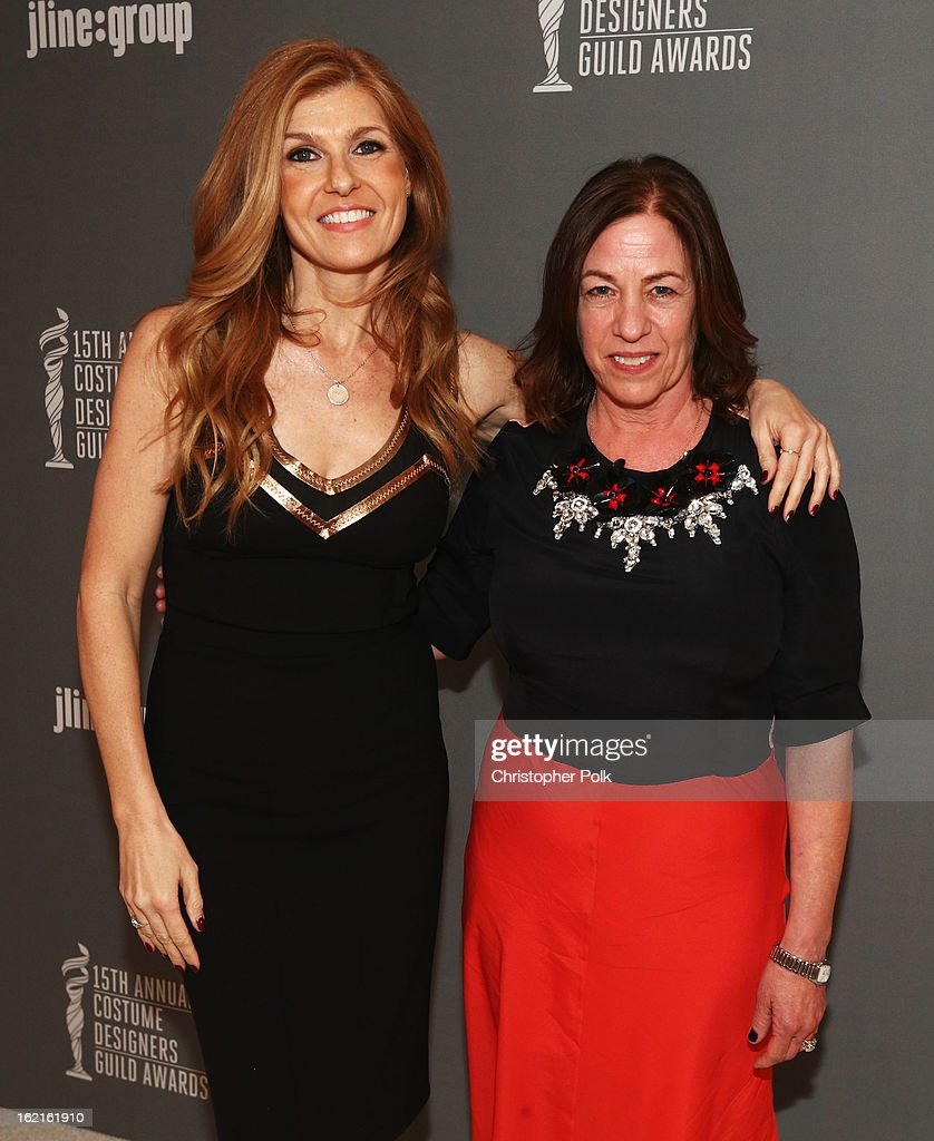 Presenter Connie Britton (L) and nominee for Outstanding Contemporary Television Series, Susie DeSanto attend the 15th Annual Costume Designers Guild Awards with presenting sponsor Lacoste at The Beverly Hilton Hotel on February 19, 2013 in Beverly Hills, California.