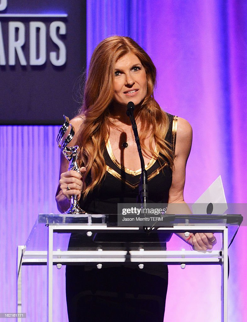 Presenter Connie Britton onstage during the 15th Annual Costume Designers Guild Awards with presenting sponsor Lacoste at The Beverly Hilton Hotel on February 19, 2013 in Beverly Hills, California.