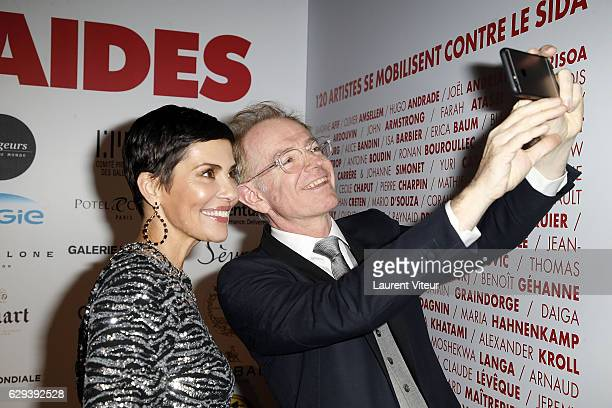 Presenter Cristina Cordula and TV Presenter Mac Lesggy attend 'Link Aides' Charity Dinner at Pavillon Cambon Capucines on December 12 2016 in Paris...