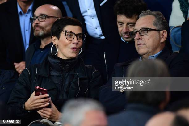 TV presenter Cristina Cordula with her husband French businessman Frederic Cassin during the Ligue 1 match between Paris Saint Germain and Olympique...