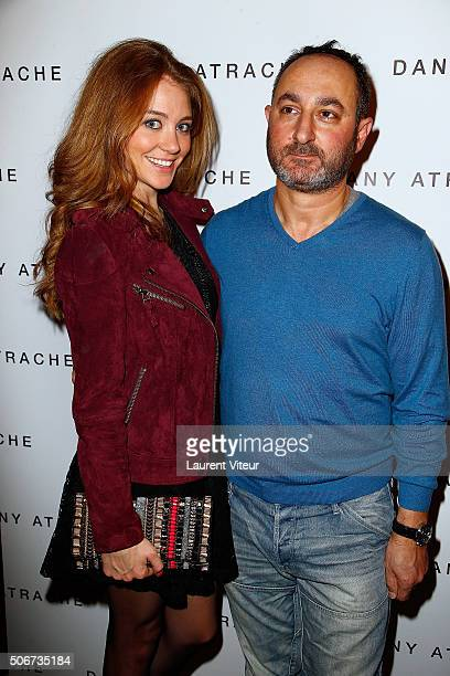 Presenter Cyrielle Joelle and Designer Dany Atrache attend the Dany Atrache Spring Summer 2016 show as part of Paris Fashion Week on January 25 2016...