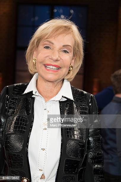 TV presenter Dagmar Berghoff attends the 'Koelner Treff' TV Show at the WDR Studio on October 21 2016 in Cologne Germany