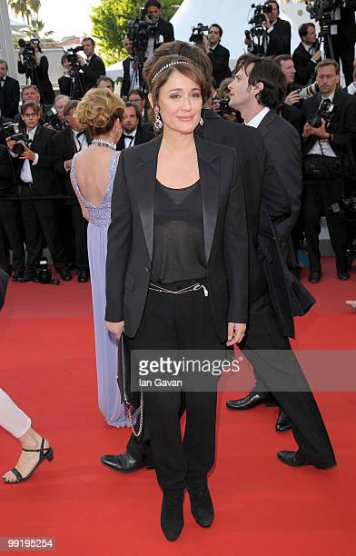 TV presenter Daniela Lumbroso attends the 'On Tour' Premiere at the Palais des Festivals during the 63rd Annual Cannes Film Festival on May 13 2010...