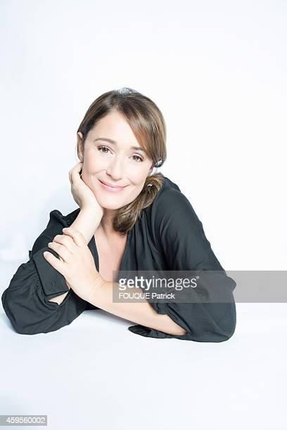 TV presenter Daniela Lumbroso poses on October 30 2014 in BoulogneBillancourt France