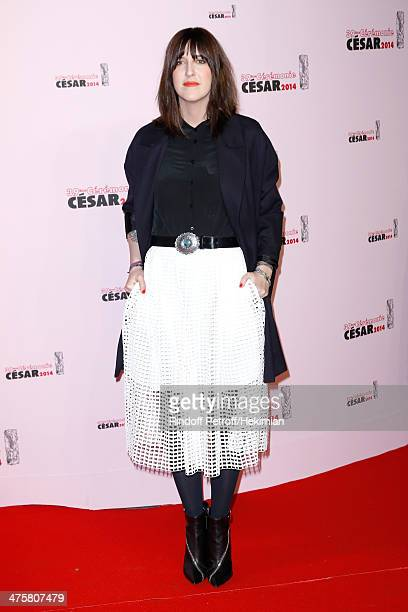 Presenter Daphne Burki arrives for the 39th Cesar Film Awards 2014 at Theatre du Chatelet on February 28 2014 in Paris France