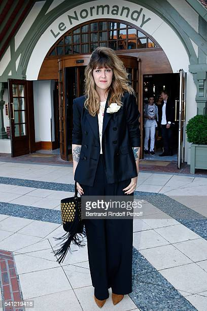 Presenter Daphne Burki attends the Hotel Normandy ReOpening at Hotel Normandy on June 18 2016 in Deauville France