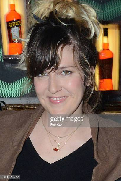 TV presenter Daphne Burki attends the 'The Mouv Concert' Hosted By Secours Populaire Francais At the Bus Palladium on October 15 2013 in Paris France
