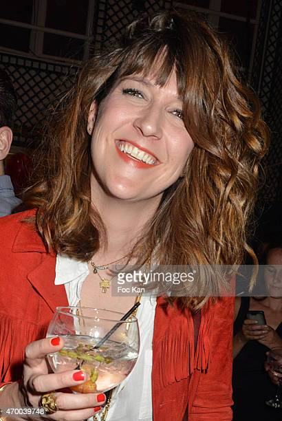 TV presenter Daphne Burki attends the Villa Schweppes Launch Party Prior The 68th Cannes Film Festival At Le Maxim's on April 16 2015 in Paris France