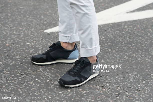 TV presenter Darren Kennedy wears Reiss trousers and Kurt Geiger on day 3 of London Collections Men on June 12 2017 in Paris France