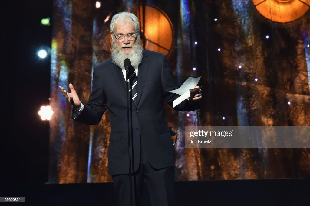 Presenter David Letterman onstage at the 32nd Annual Rock & Roll Hall Of Fame Induction Ceremony at Barclays Center on April 7, 2017 in New York City. The event will broadcast on HBO Saturday, April 29, 2017 at 8:00 pm ET/PT