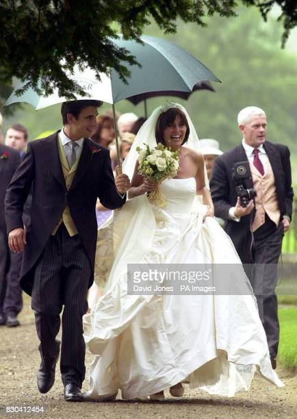 TV presenter Davina McCall and Matthew Robertson celebrate their marriage at the St John the Baptist church Eastnor near Ledbury Ms McCall was...