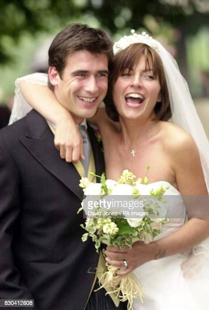 TV presenter Davina McCall and Matthew Robertson celebrate their marriage at the St John the Baptist church Eastnor near Ledbury this afternoon Ms...