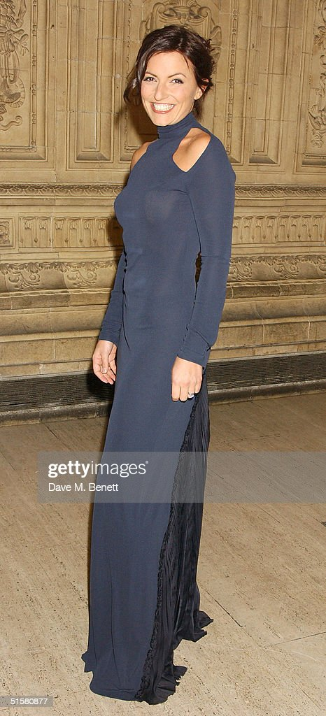 TV presenter Davina McCall arrives at the '10th Anniversary National Television Awards' at the Royal Albert Hall on October 26, 2004 in London. The star-studded awards ceremony awards prizes as voted for by members of the public.