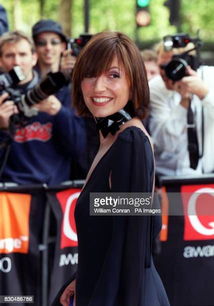 TV presenter Davina McCall arriving at the Park Lane Hotel central London for the Q Awards The event sponsored by music magazine Q is one of the...