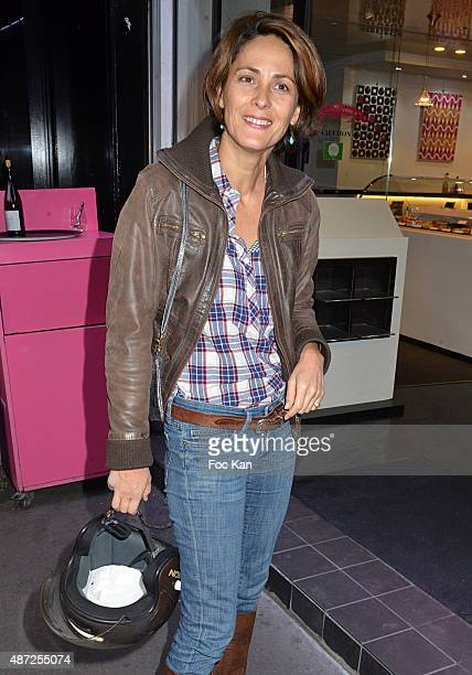 TV presenter Delphine Malachard de Turckheim attends the Fauchon Afterwork Rentree du Cap Ferret at Fauchon Madeleine on September 7 2015 in Paris...