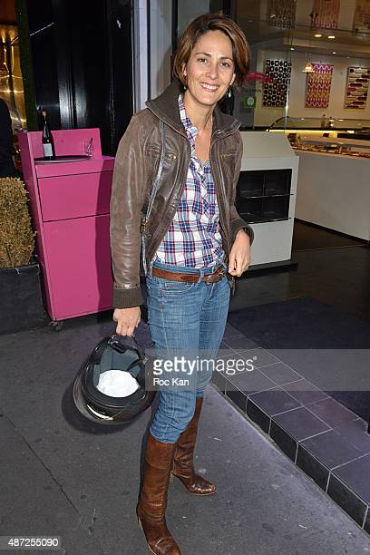 TV presenter Delphine Malachard de Turckheim attends the Fauchon Afterwork Rentree du Cap Ferret at Fauchon Madeleine on September 7 2015 in Paris...