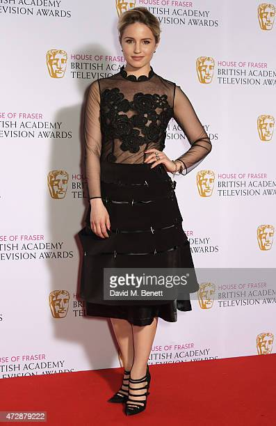 Presenter Dianna Agron poses in the winners room at the House of Fraser British Academy Television Awards at Theatre Royal Drury Lane on May 10 2015...