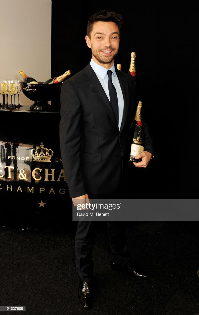Presenter <a gi-track='captionPersonalityLinkClicked' href=/galleries/search?phrase=Dominic+Cooper&family=editorial&specificpeople=863047 ng-click='$event.stopPropagation()'>Dominic Cooper</a> attends the Moet British Independent Film Awards 2013 at Old Billingsgate Market on December 8, 2013 in London, England.