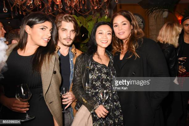 TV presenter Donia Eden actor Edouard Giard Malika Lambert and actress Lola Dewaere attend the 'Apero Gouter' Cocktail Hosted by Le Grand Seigneur...