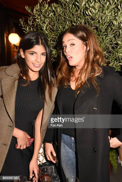 TV presenter Donia Eden and actress Lola Dewaere attend the 'Apero Gouter' Cocktail Hosted by Le Grand Seigneur Magazine at Bistrot Marguerite on...
