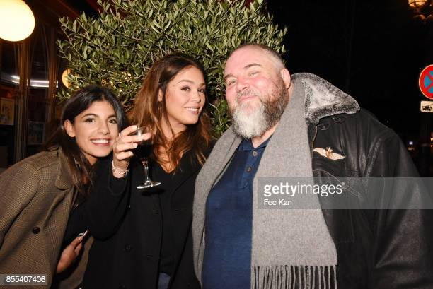 TV presenter Donia Eden Malika Lambert and Le Grand Seigneur Editor in chief Olivier Malnuit attend the 'Apero Gouter' Cocktail Hosted by Le Grand...