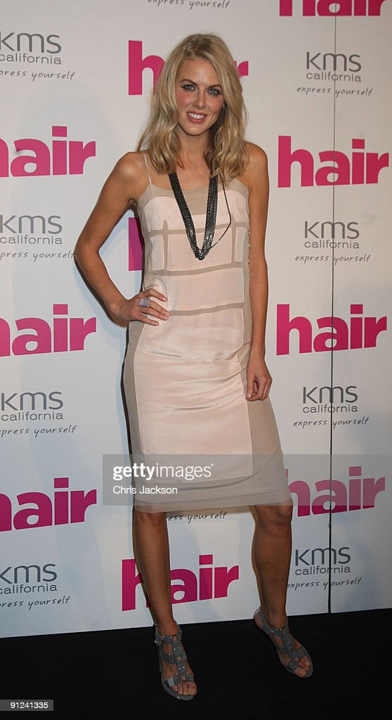 Presenter Donna Air attends the Hair Magazine Awards 2009 held at Il Bottaccio on September 29, 2009 in London, England.