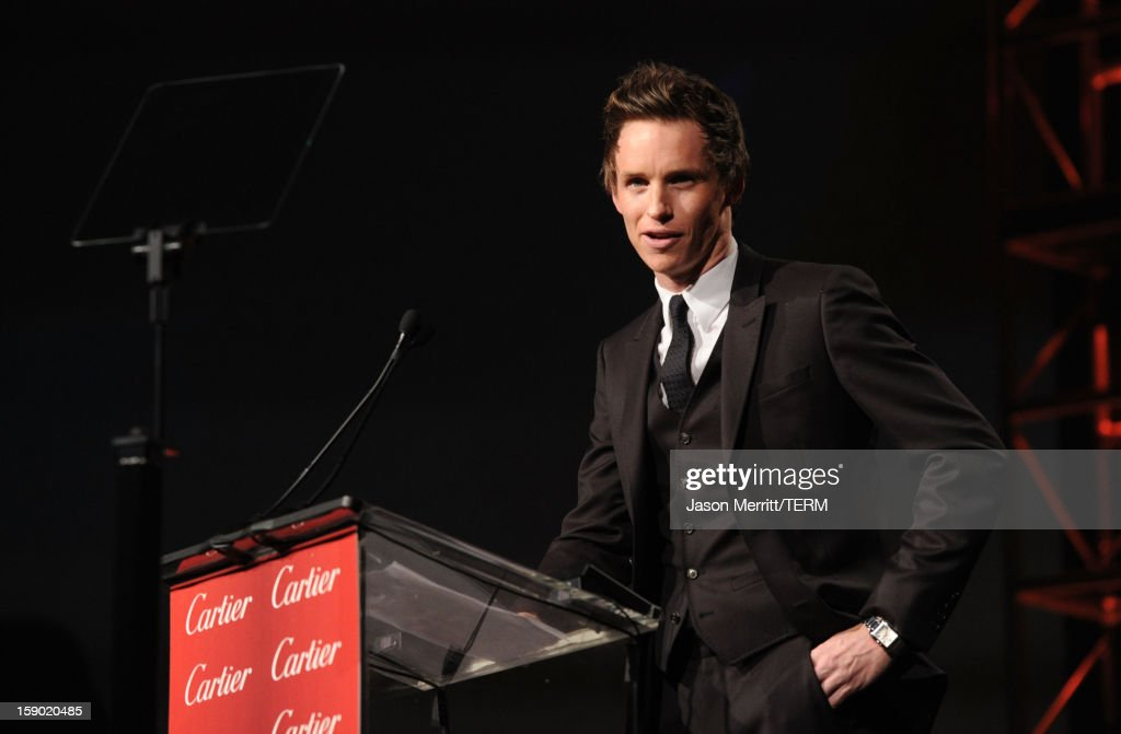 Presenter Eddie Redmayne speaks onstage during the 24th annual Palm Springs International Film Festival Awards Gala at the Palm Springs Convention Center on January 5, 2013 in Palm Springs, California.