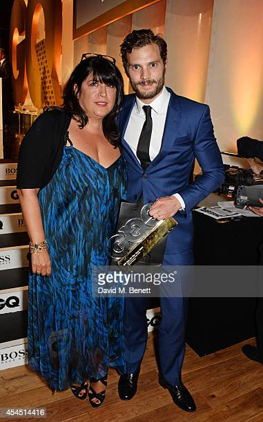 Presenter EL James and Jamie Dornan winner of the Vertu Breakthrough award attend the GQ Men Of The Year awards in association with Hugo Boss at The...